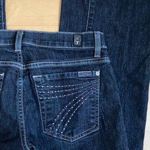 7 For all Mankind DOJO jeans sz 27 sparkle